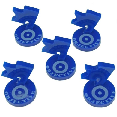 Mini Objective Markers, WWII British, Blue (5)
