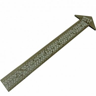 TANK Game, Double Scale Movement Ruler, Transparent Bronze (1)