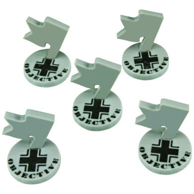 Mini Objective Markers, WWII German, Grey (5)