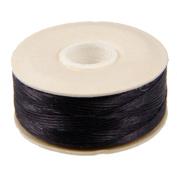 NYMO Nylon Beading Thread Size D for Delica Beads - Black 64 Yards