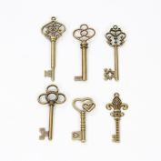 Bingcute 6 Type Of 30Pcs Bronze Vintage Skeleton Keys -Vintage Style Key Charms