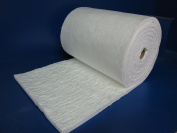 Ceramic Fibre Blanket - Insulation 8#, 2300F,2.5cm x 60cm x 7.6m for Wood Stoves, Pizza Ovens, Kilns, Forges & More - 8# Pound 2300 Degrees