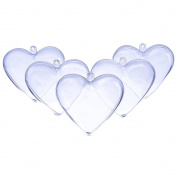 Outus Plastic Bath Bomb Mould Heart Shape DIY, 5 Sets