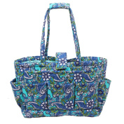 Floral Quilted Cotton Needle Bag Knitting Bag Yarn Storage Tote