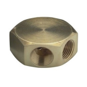 COILHOSE PNEUMATICS Manifold - 3 Port Flat Hex 1cm Female Inlets and Outlets