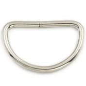 """50 Pcs 1.25"""" 32mm Metal Flat D Dee Rings D-Rings Webbing D Buckles Bag Nickel"""