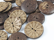 YAKA 50pc New Thick Coconut Shell 2 Holes Button Craft /Sewing/hot Products