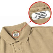 Iron on Clothing Labels - 100 - LARGE 3 or 4 line - Personalised with Your Text! Your choice of ink colour. Black - Red - Blue - Green