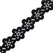 BLACK Venise Lace Ribbon Trim for bridal, apparel, home decor, 2.9cm by 1 Yard, BAT-6833