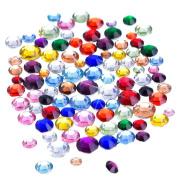 Outus Flatback Rhinestones Resin Round Crystal, 2 mm - 5 mm, 1000 Pieces