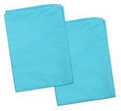 2 Turquoise Toddler Pillowcases - Envelope Style - 13x18 - 100% Cotton With Soft Sateen Weave - Machine Washable - ZadisonJaxx Bellacolour Collection - 2 Pack