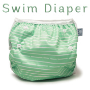 Nageuret Adjustable Swim Nappy, Reusable . Fits Nappy Sizes N-5 (3.6-16kg) Ultra Premium Quality For Eco-Friendly Baby Shower Gifts & Swimming Lessons