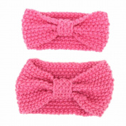 Alonea Adults And Baby Keep Warm Elastic Hair Band Crochet Knitted Headband