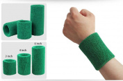 Wonzone 1 Pairs 7.6cm Wrist Sweatband Sports Basketball Wristband / Sweatband Wrist Sweat band/Brace