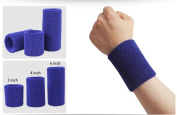 Wonzone 1 Pairs 7.6cm Wrist Sweatband Sports Basketball Wristband / Sweatband Wrist Sweat band/Brace