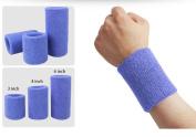 Wonzone 1 Pairs 10cm Wrist Sweatband Sports Basketball Wristband / Sweatband Wrist Sweat band/Brace