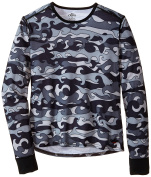 Hot Chillys Youth Midweight Print Crewneck Tee