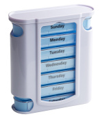 Tower Pill box organiser with 7 single box and 4 daily compartments