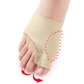 Gel Pad Bunion Protector Sleeves Corrector Pad with Gel Toe Separators Spacers Straightener and Spreader 2 Booties For Hallux Valgus Bunion Pain Relief Proper Big Toe Alignment Wear with Shoes 1 Pair