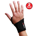 AidBrace Adjustable Wrist Support Wrap (2 Pack) – Helps with Carpal Tunnel, RSI, Arthritis, Tendonitis, and Sprains for Weak and Sore Wrists