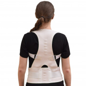Comfort Posture Support and Shoulder/Back Pain Relief Adjustable Back Brace with Under - Arm Support Cushion, Chest Sizes 70cm - 90cm