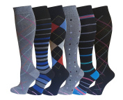 6 Pairs Pack Women Dr Motion Graduated Compression Knee High Socks