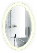 Oval LED Bathroom Mirror 50cm x 80cm | Lighted Vanity Mirror Includes Dimmer & Defogger | | Wall Mount Vertical or Horizontal Installation |