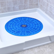 Round Shower Mat (Blue)