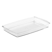 InterDesign Cosmetic Organiser Tray for Vanity Cabinet to Hold Makeup, Beauty Products, Hand Towels - Clear