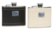 C.R. Gibson WFD-14330 True Love Stainless Steel Wedding Flask Duo, Multicolor