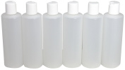 240ml Plastic Squeeze Bottles with Disc Top Flip Cap Set of 6 Empty by Pinnacle Mercantile