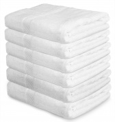 Cotton Pool Gym Bath Towels (6 Pack, 60cm x 110cm ) Light Multipurpose Quick Drying Towel by Utopia Towels