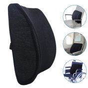 Milliard Lumbar Support Pillow; Memory Foam Chair Cushion Supports Lower Back for Easy Posture in the Car, Office, Plane and Your Favourite Chair