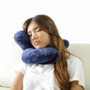 Daisy Travel Pillow Holds Head Like Magic. This Patent Pending, Simple and Clever New 2016 Invention Will Surprise You. Comfortable and Supporting Aeroplane Pillow, Plane Travel Pillow and Car Pillow