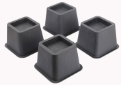 EASYGOING 4-pack 7.6cm Height Bed Risers, Furniture Riser Bed Riser and Bed Lifts,Helps you storage under the bed
