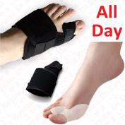 Dr.Koyama 2 Sets Rapid Bunion Pain Treatment Night Time Bunion Orthopaedic Splints+Bunion Corrector Toe Spacer Hallux Valgus Bunion Pads