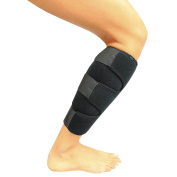 Shin Support by Vive - Best Adjustable Calf Brace - Shin Splint Compression Wrap Increases Circulation & Reduces Swelling - Calf Compression Sleeve for Leg Pain - Vive Guarantee