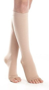 Surgical Opaque Knee-Hi Firm Support Open Toe 20-30mmHg Graduated compression Surgical Weight -- Made in USA