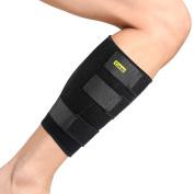 Yosoo Calf Brace - Adjustable Neoprene Shin Splints Leg Compression Wrap Support for Pulled Calf Muscle Pain Torn Calf Strain Injury, Fits Men and Women, Black
