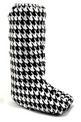 My Recovers Walking Boot Cover for Fracture Boot, Fashion Cover in Black-White Houndstooth, Size Medium, Tall Boot, Made in USA, Orthopaedic Products Accessories