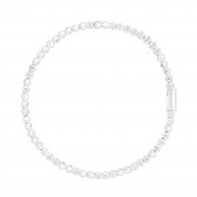 Silpada 'Charlotte' Sterling Silver Stretch Bracelet, 17cm