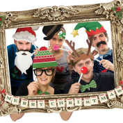 Festive Photo Booth Props with Frame