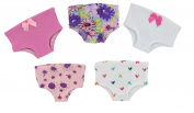 Underwear Set of 5 - for 46cm American Girl Doll