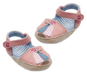 Baby Girls Pram Shoes Size 1, 3 - 6 Months Pink Boat Espadrilles In Gift Box