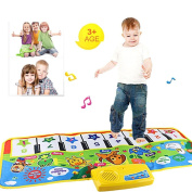 Kids Education Toy, FTXJ New Touch Play Floor Keyboard Musical Music Singing Gym Carpet Mat
