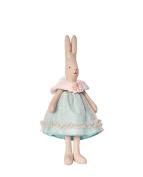 Maileg - Mini Bunny Rabbit - Blue Tulle - Princess Sofia - Straight Eared Rabbit - 26cms