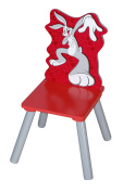 Adorable Looney Tunes Bugs Bunny MDF and Rubber Chair for Kids Boys and Girls, Perfect for Play Room or Gift