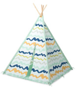 Colour-Brushed Patterned-Fabric Four-Pole Teepee