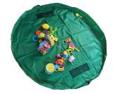 Large 150cm Diameter Baby Kids Play Floor Mat Toy Storage Bag Organiser Portable Bag Green