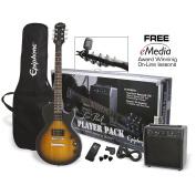 Epiphone Les Paul Electric Guitar Player Package, Vintage Sunburst